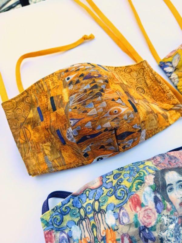 Υφασμάτινη μάσκα προσώπου Klimt