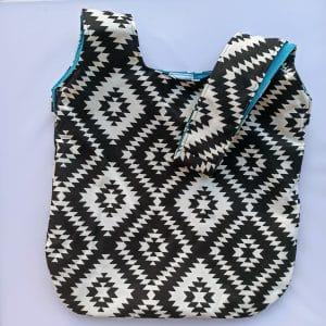 Knot Bag Ασπρόμαυρη-Μεγάλη
